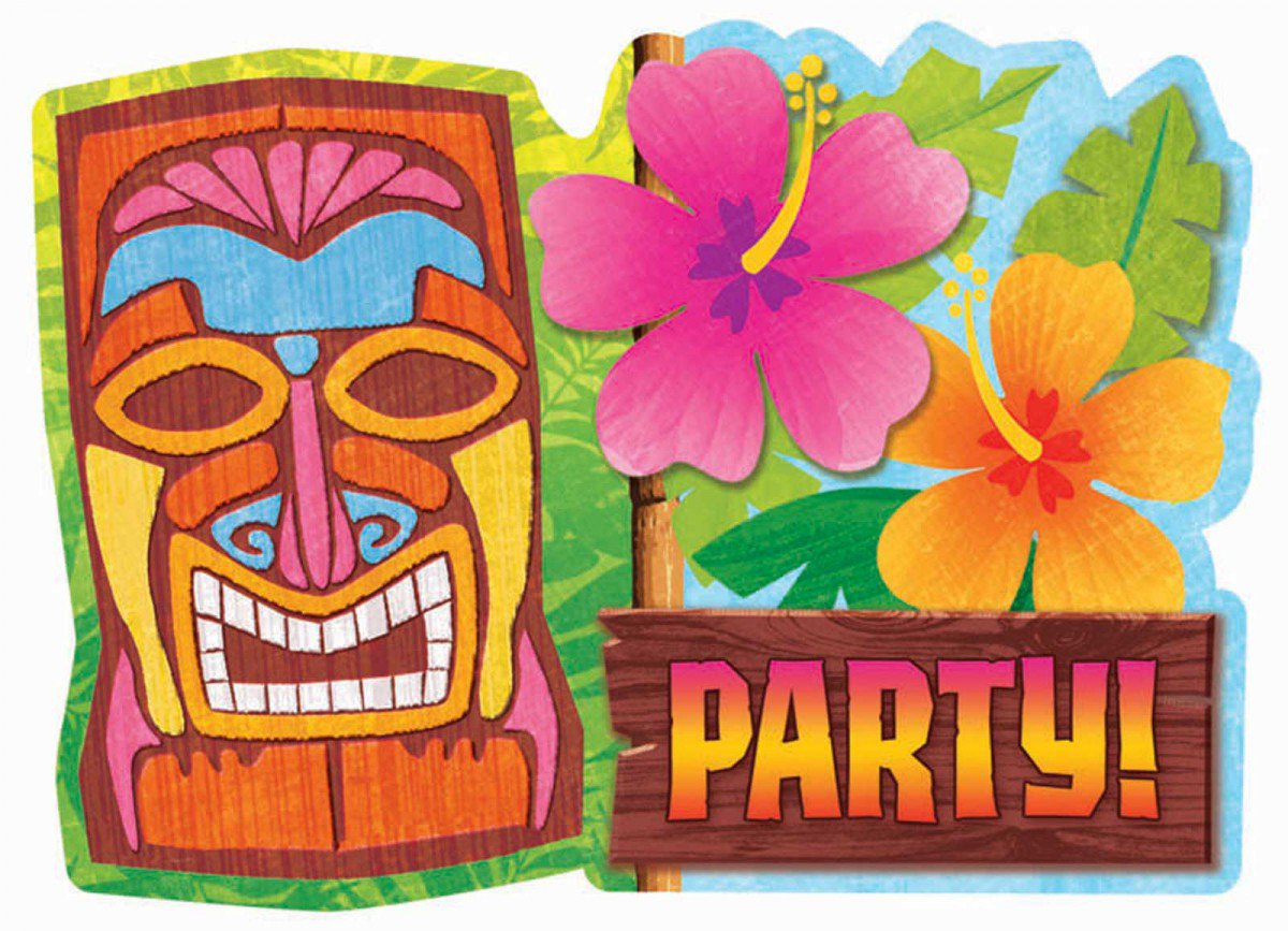Printable Luau Invitations Templates
