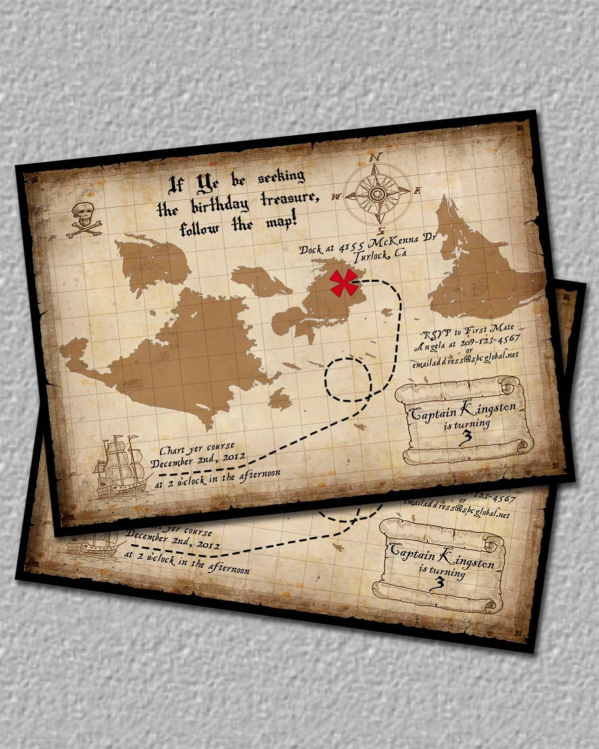 Printable Maps For Invitations