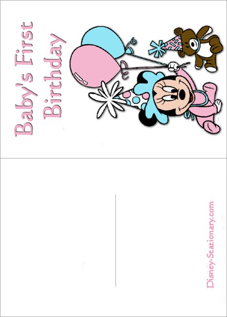 Printable Mickey Mouse 1st Birthday Invitations 2017