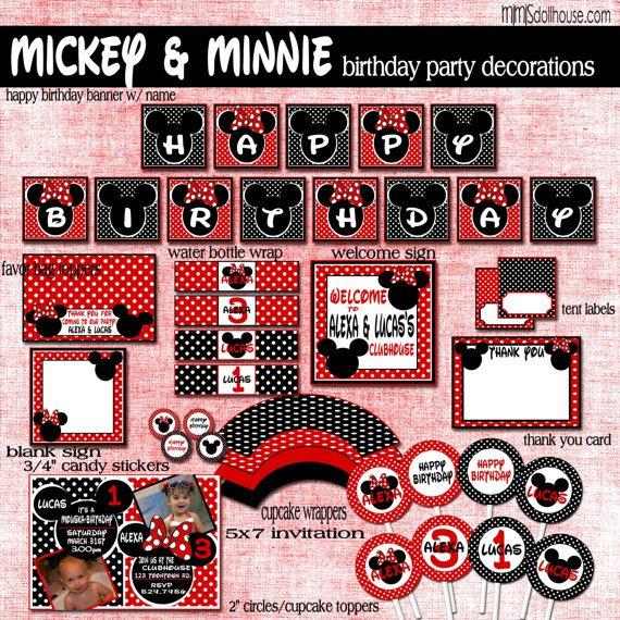 Printable Mickey Mouse Birthday Invitations Free
