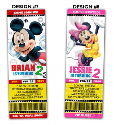 Printable Mickey Mouse Invitations 2015