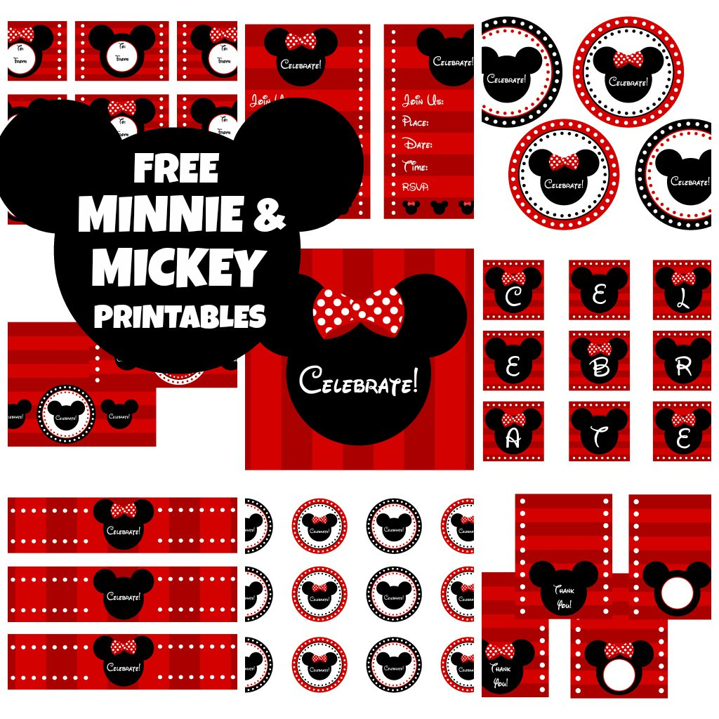 Printable Mickey Mouse Party Decorations