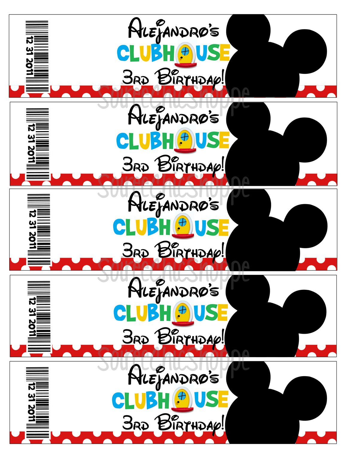Printable Mickey Mouse Party Supplies