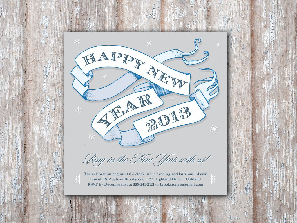 Printable New Years Eve Invitations