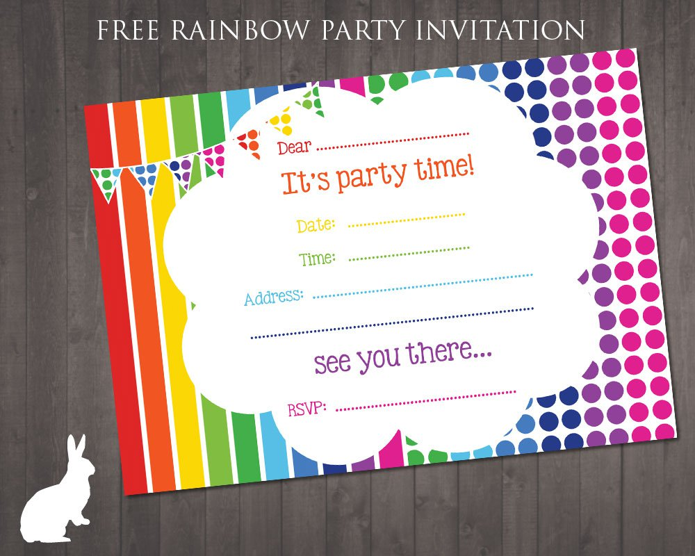 Printable Party Invitation Paper