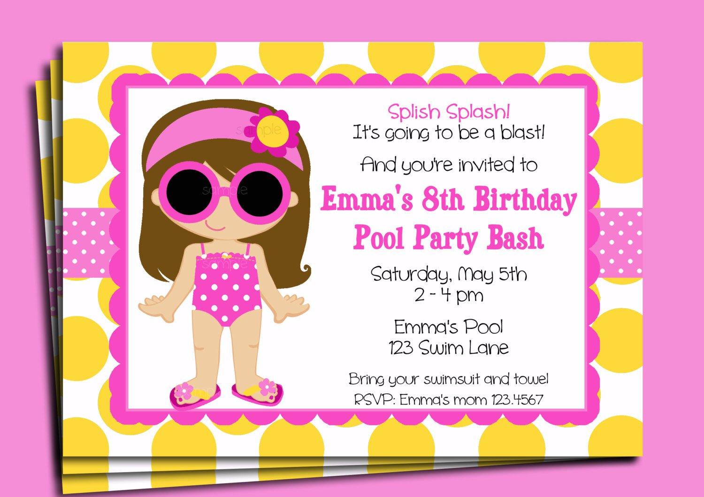 Printable Party Invitation Templates Kids