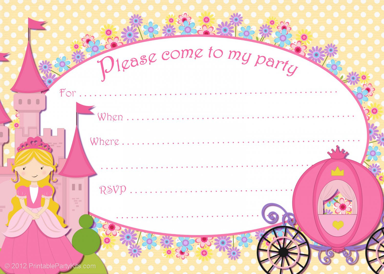 Printable Party Invitations Free Download