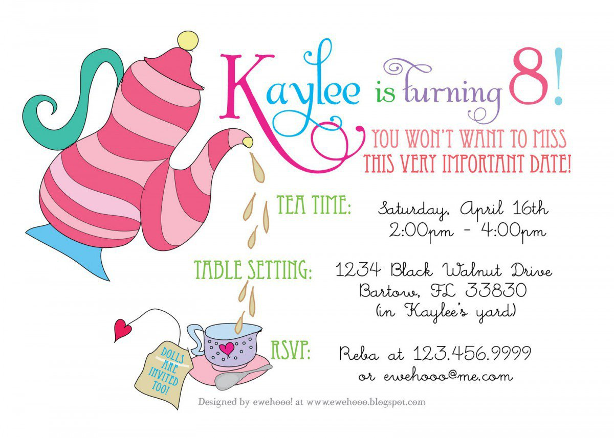 Printable Party Invitations Kids