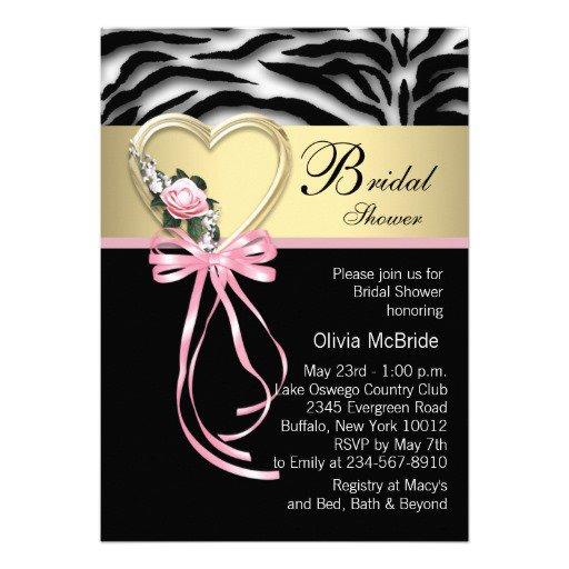 Printable Pink Zebra Print Invitations 2016