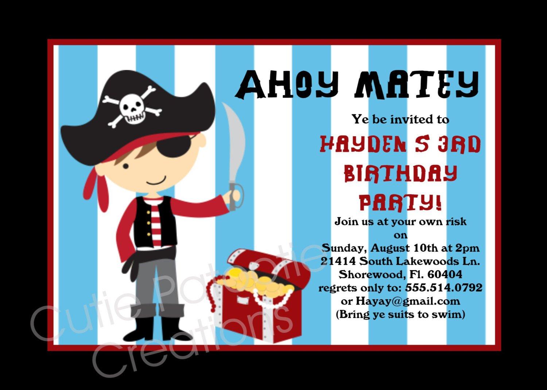 Printable Pirate Invitations