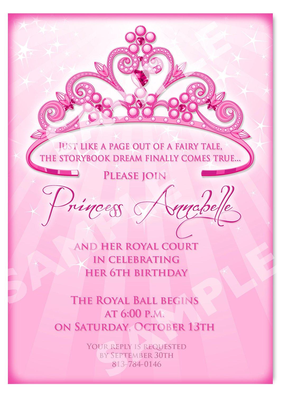Printable Princess Invitation Cards