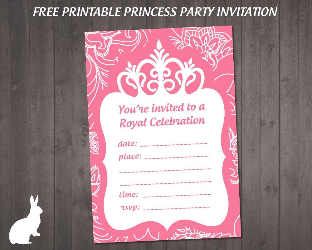 Printable Princess Party Invitations Free