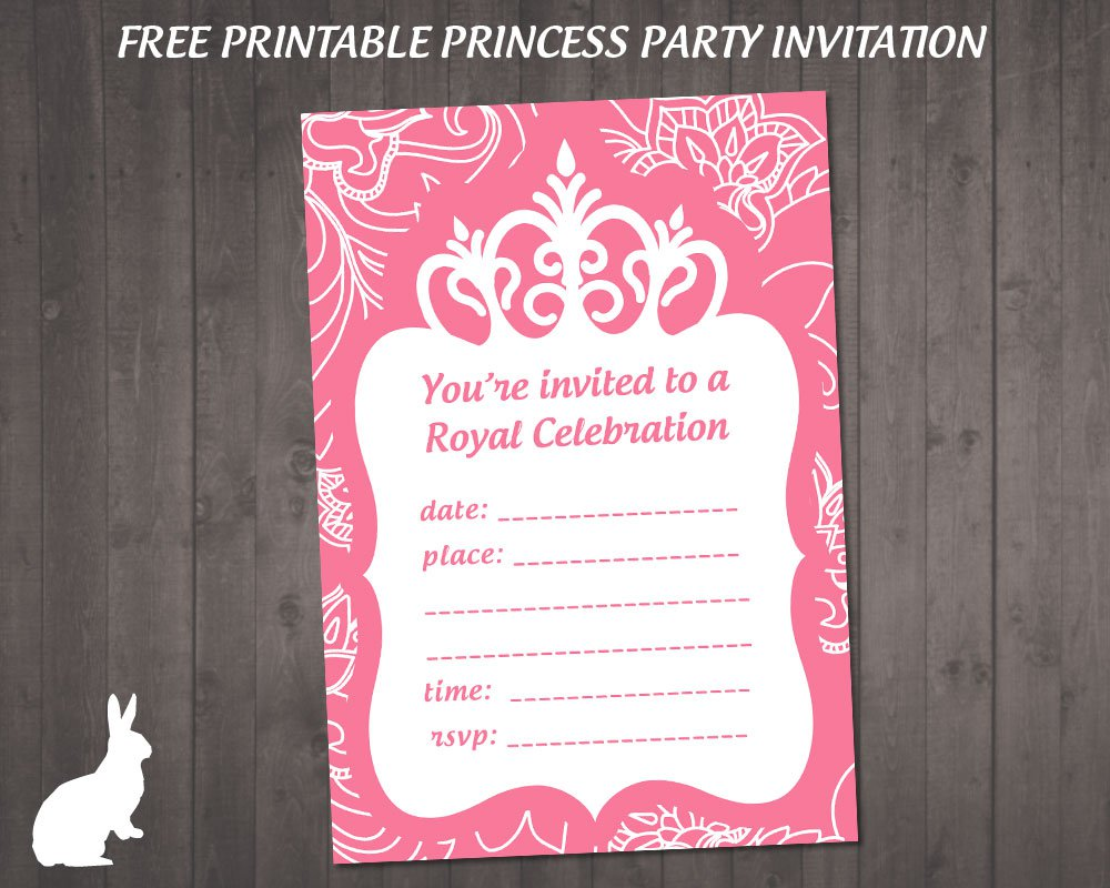 Printable Princess Party Invitations Free