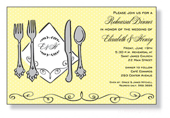 Printable Rehearsal Dinner Invitation Template 2016