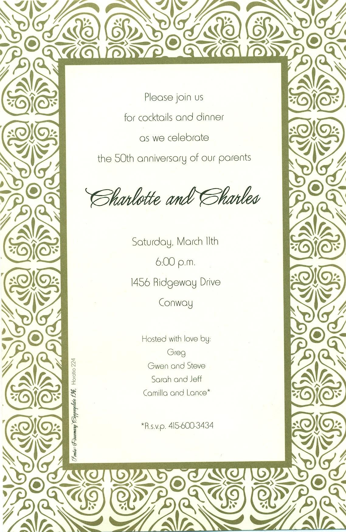 Printable Rehearsal Dinner Party Invitations 2015