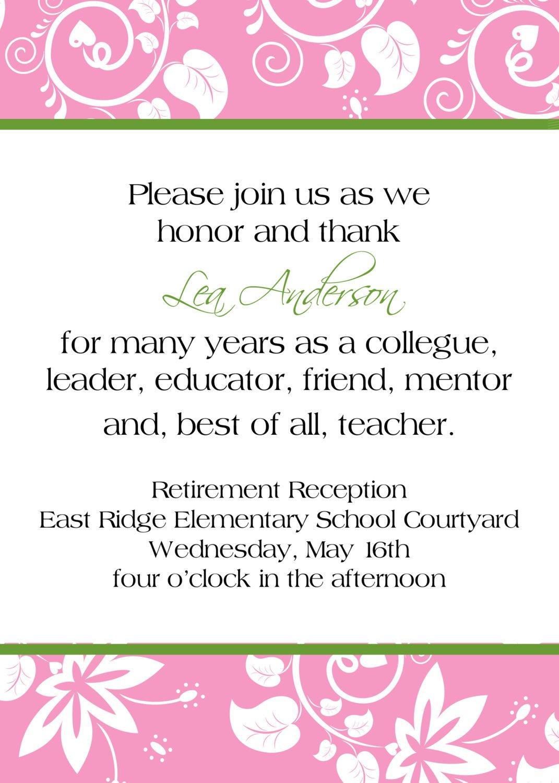 Printable Retirement Invitations Cards