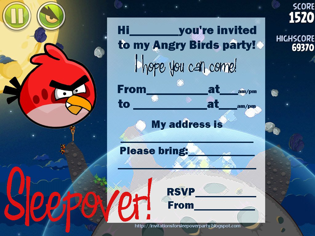 printable sleepover invitations for boys