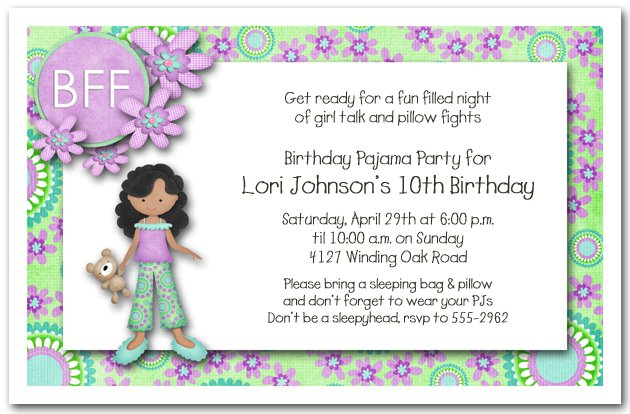 Printable Slumber Party Invitations For Girls 2016