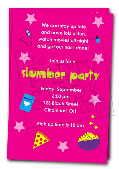 Printable Slumber Party Invitations For Girls 2017