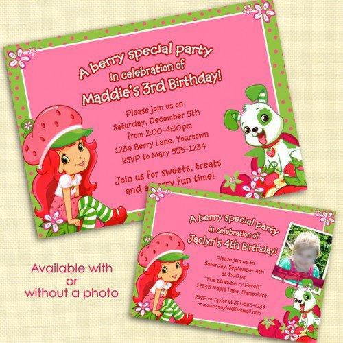 Printable Strawberry Shortcake Birthday Invitations
