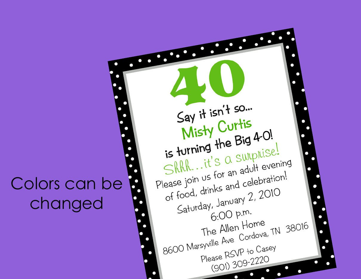 Printable Surprise 50th Birthday Party Invitations