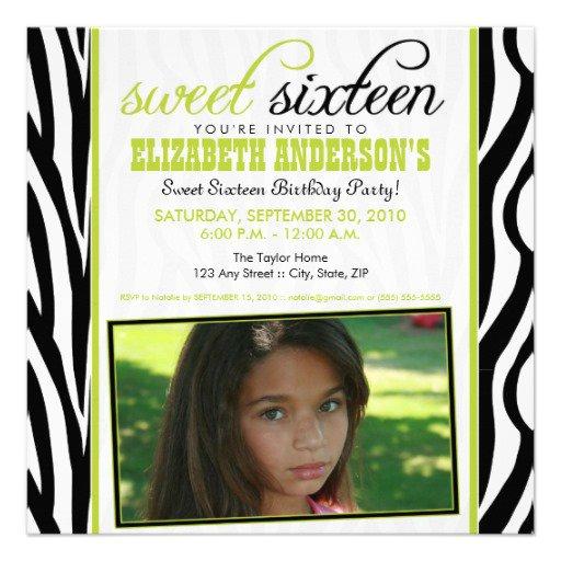 Printable Sweet 16 Invitations Free 2015
