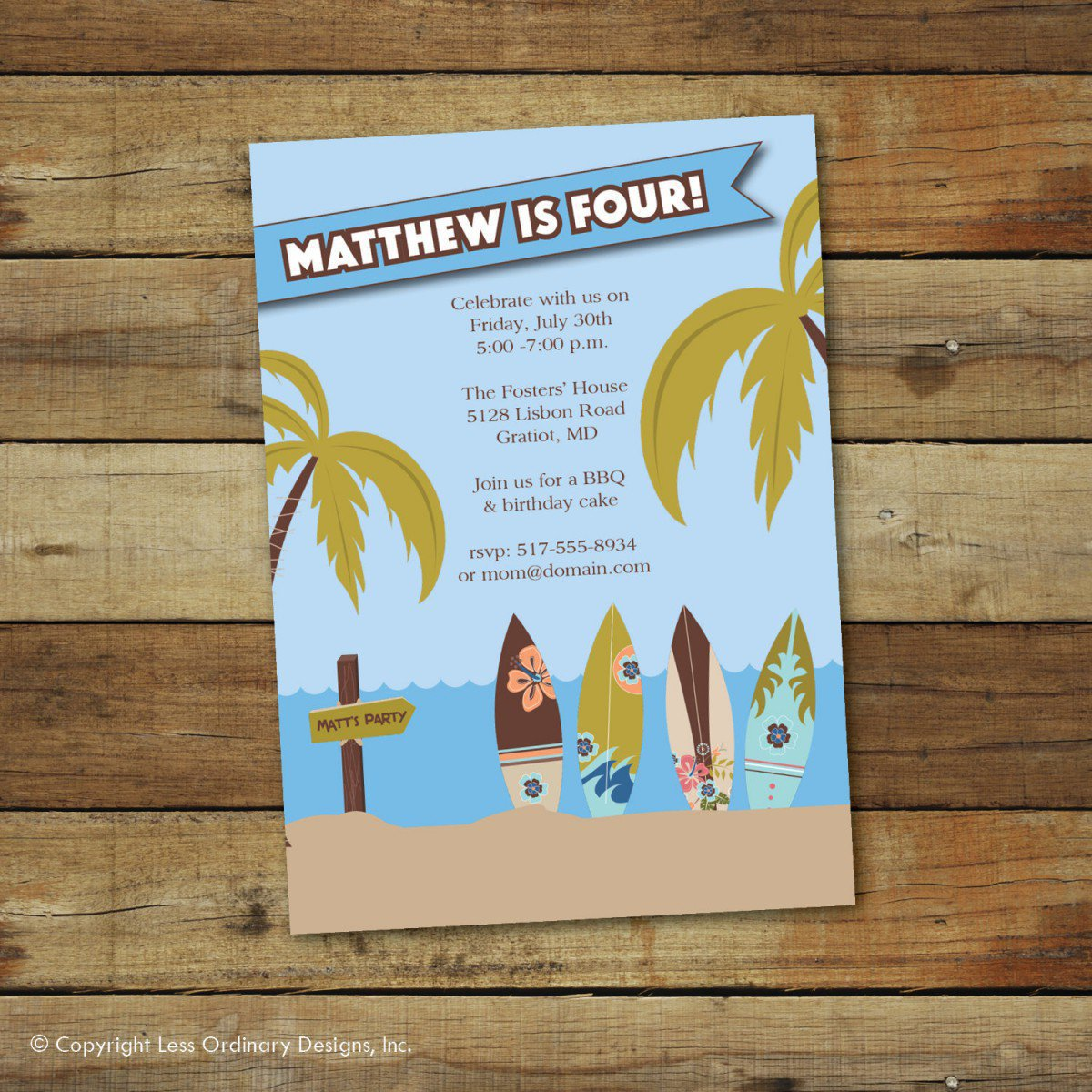 Printable Swim Party Invitations 2017