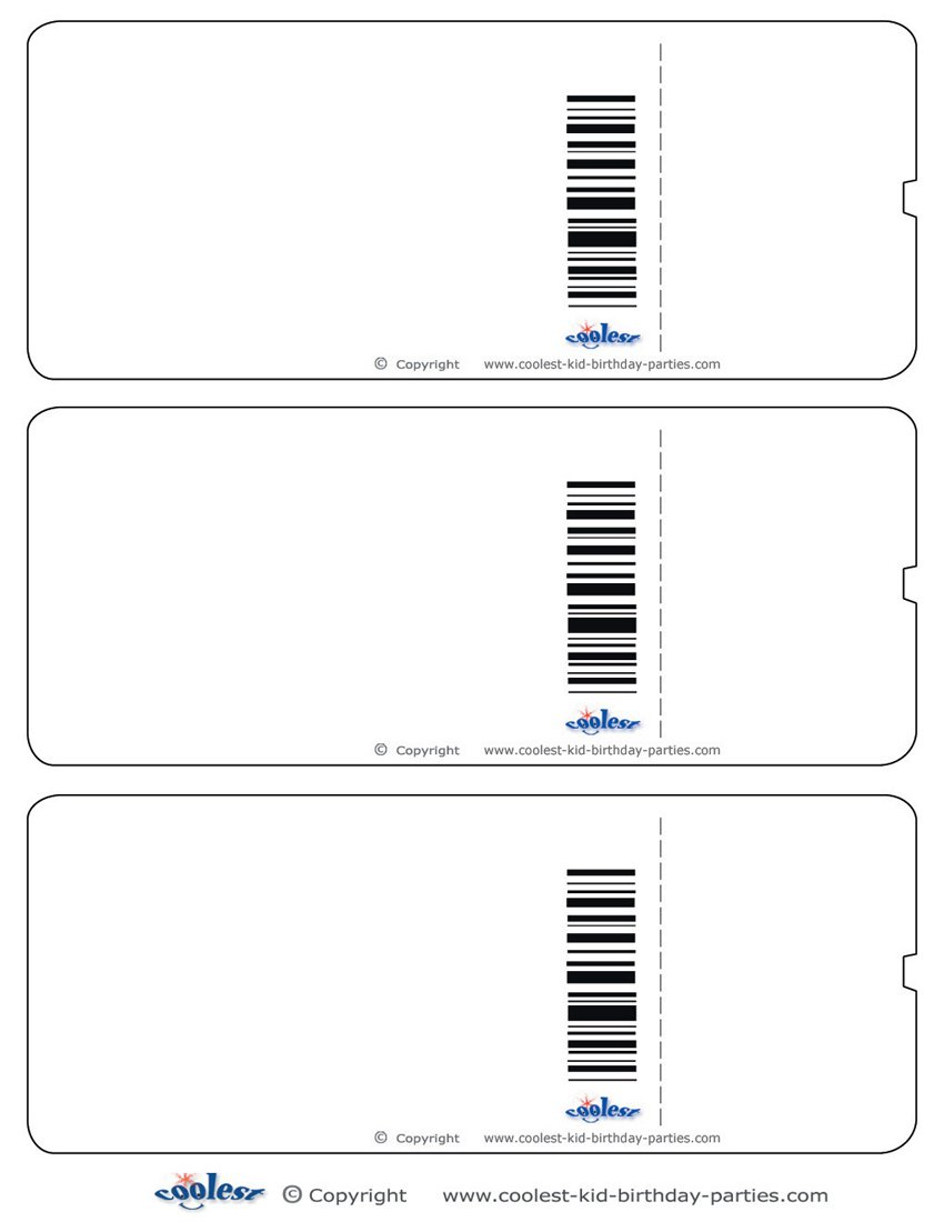 Printable Ticket Invitations