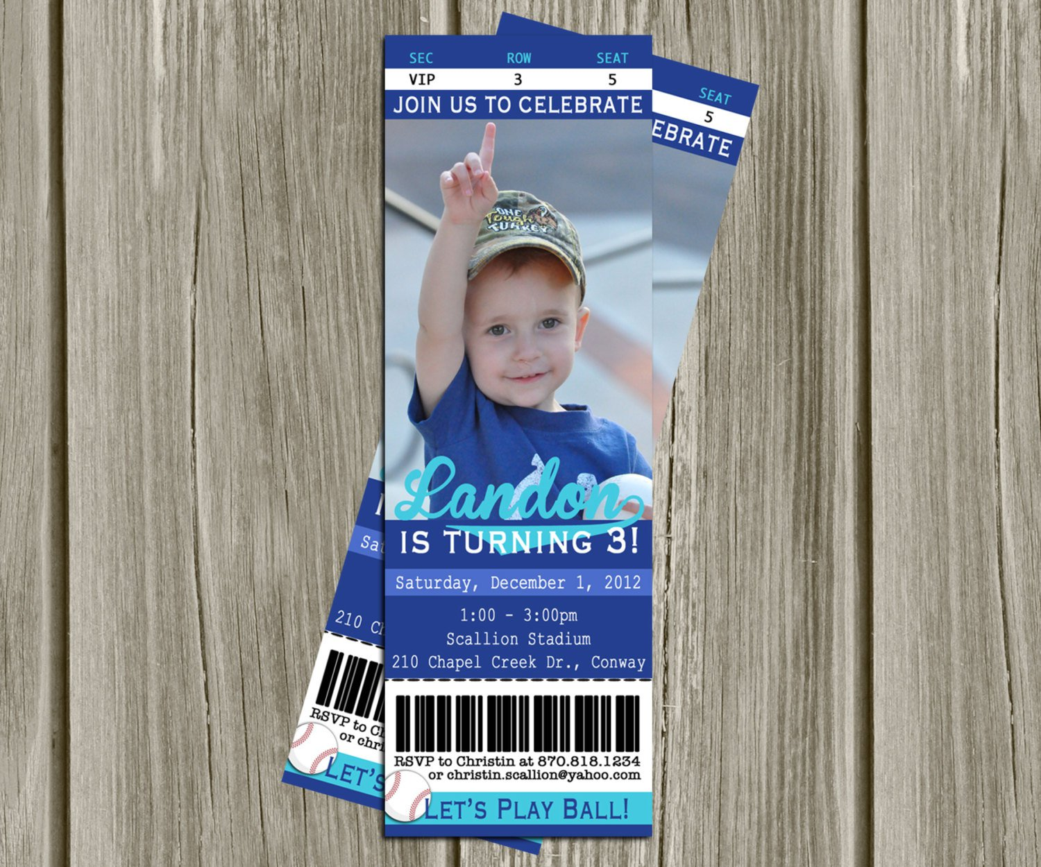 Printable Ticket Invitations Free