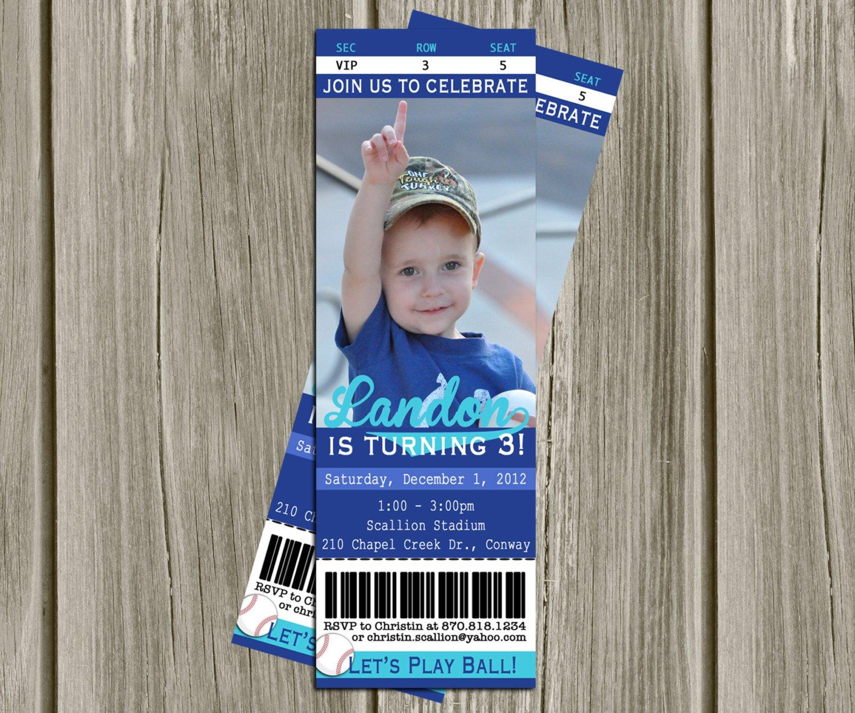 Printable Ticket Invitations Free