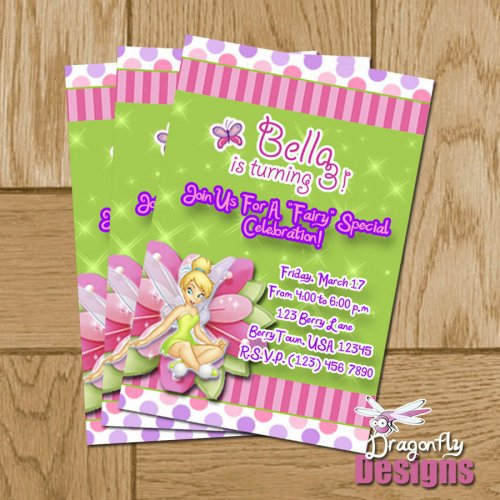 Printable Tinkerbell Invitations Birthday 2016