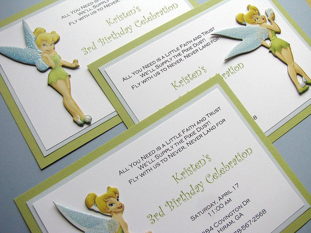 Printable Tinkerbell Invitations Free 2015