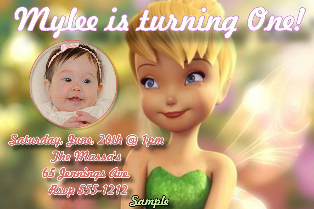 Printable Tinkerbell Invitations Free 2016