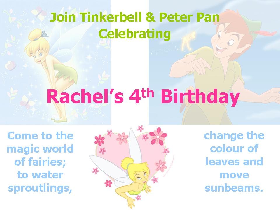 Printable Tinkerbell Party Invitations 2016