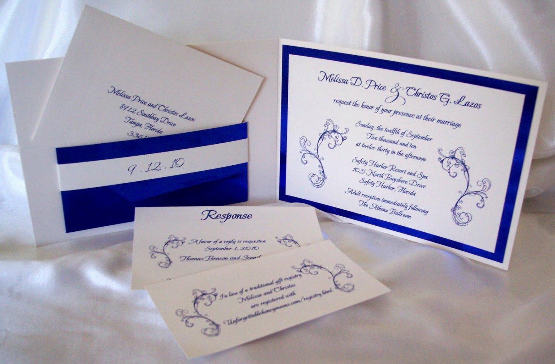 Printable Wedding Invitation Kits Blue