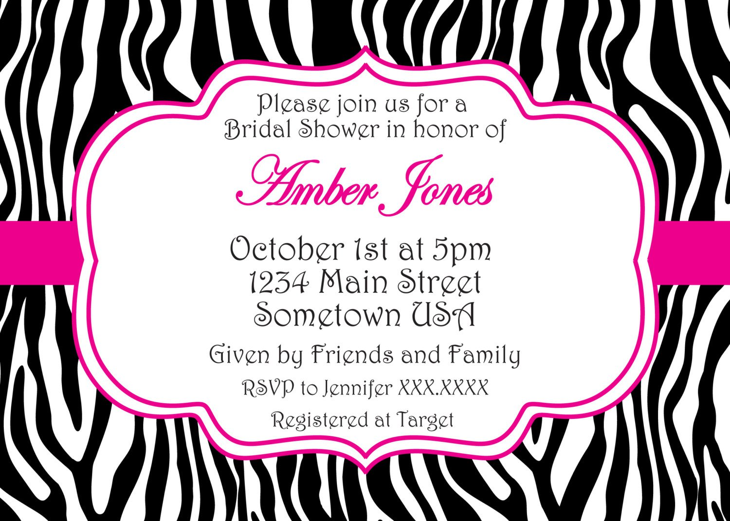 Printable Zebra Invitations For Birthdays