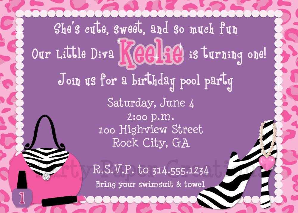 Printable Zebra Party Invitations 2018