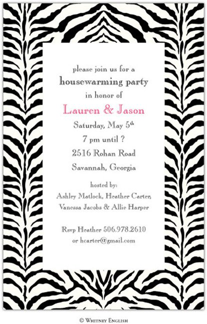 Printable Zebra Print Birthday Invitations Free 2015