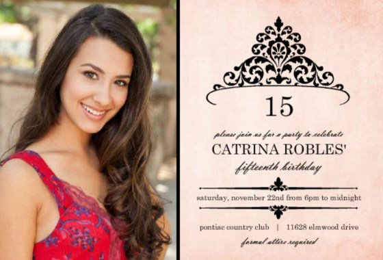 Quinceanera Printable Party Invitations 2018