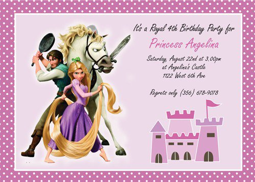 Rapunzel Printable Invitations 2015