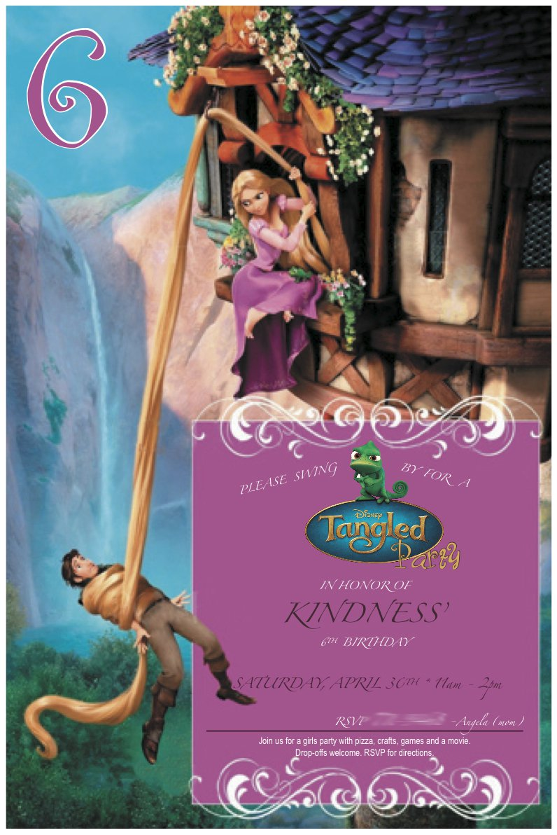 Rapunzel Printable Invitations 2017