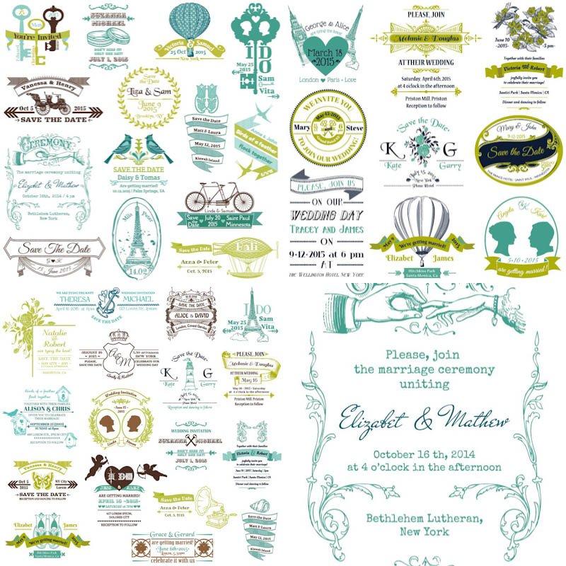 Retro Free Printable Wedding Invitation Templates 2016