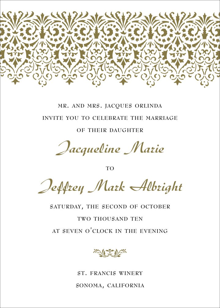 Wedding Invitation Wording Templates Free wblqualcom