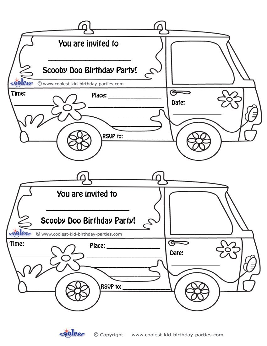 Scooby Doo Birthday Party Invitations Printable – Scooby Doo Party Invitations