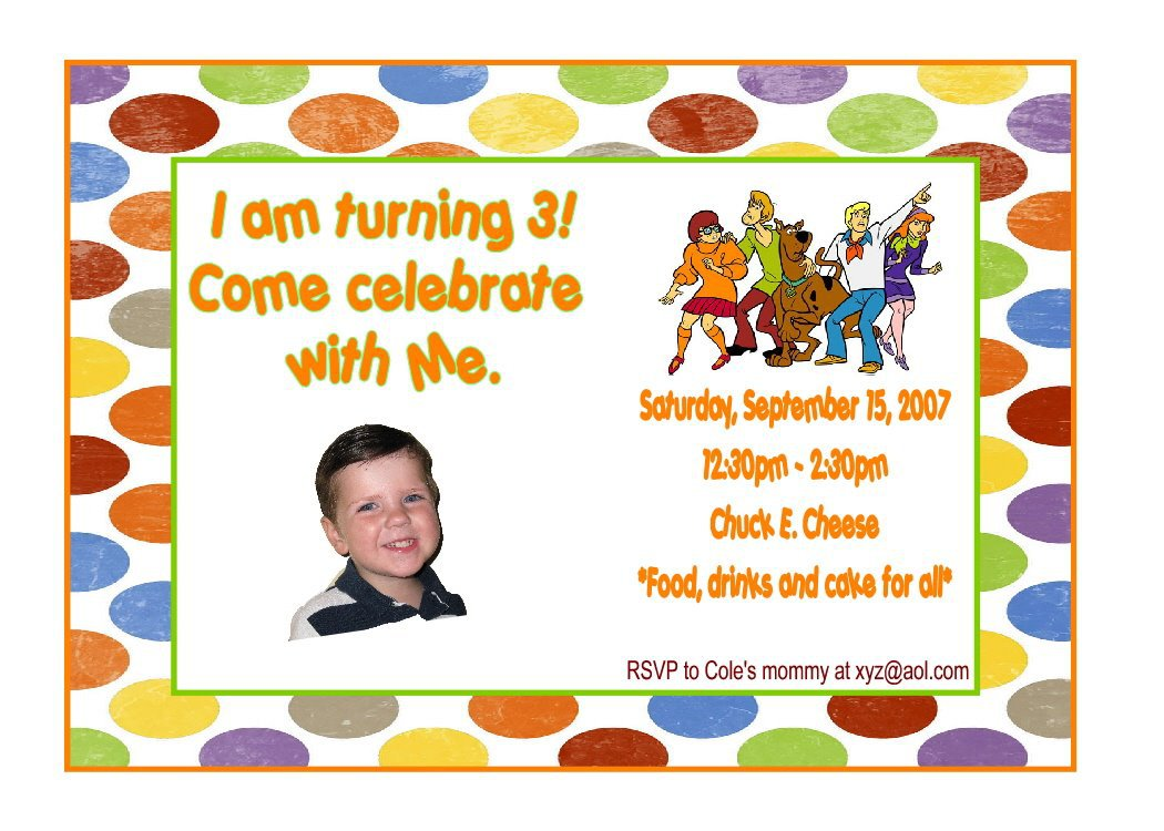 Scooby Doo Birthday Party Invitations Printable