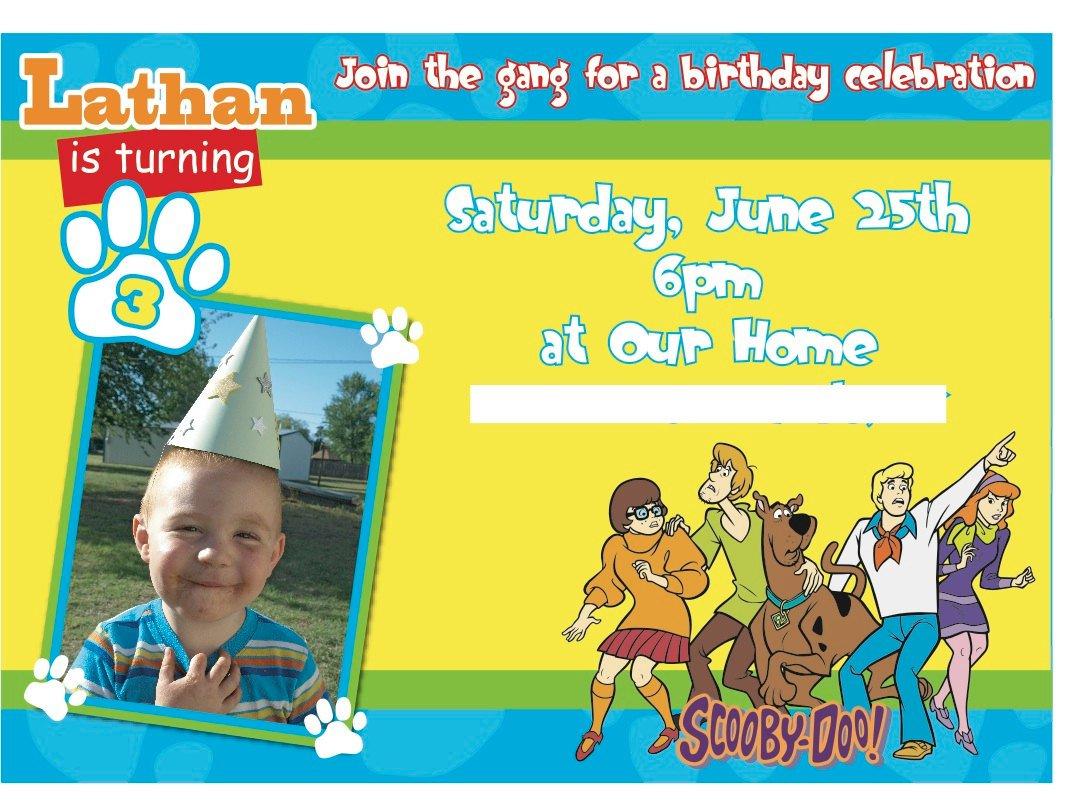 Scooby Doo Invitations Printable Free 2015