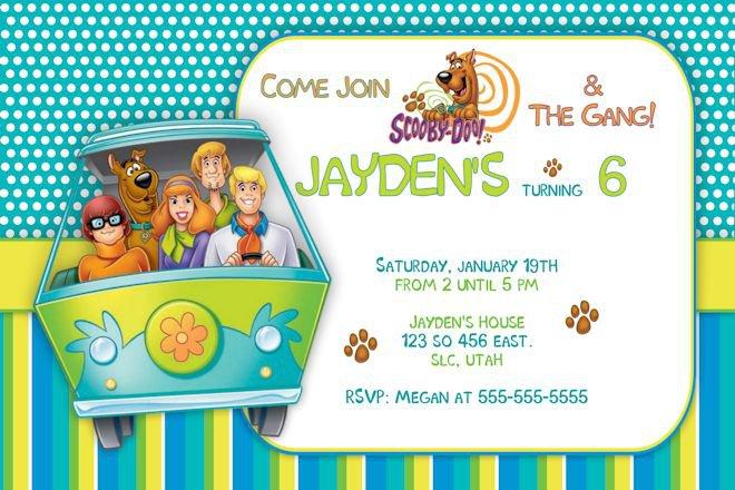 Scooby Doo Invitations Printable Free