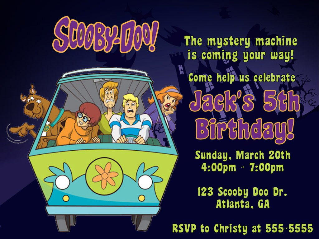 Scooby Doo Party Invitations Printable Free