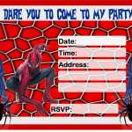 Spiderman Invitations Printable Free