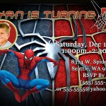 Spiderman Party Invitations Printable